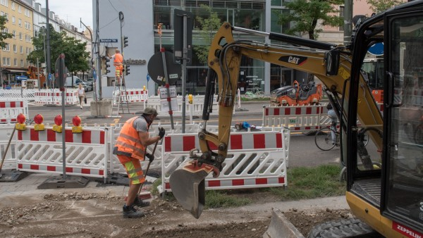Baustelle Luisenstraße / Ecke Elisenstraße