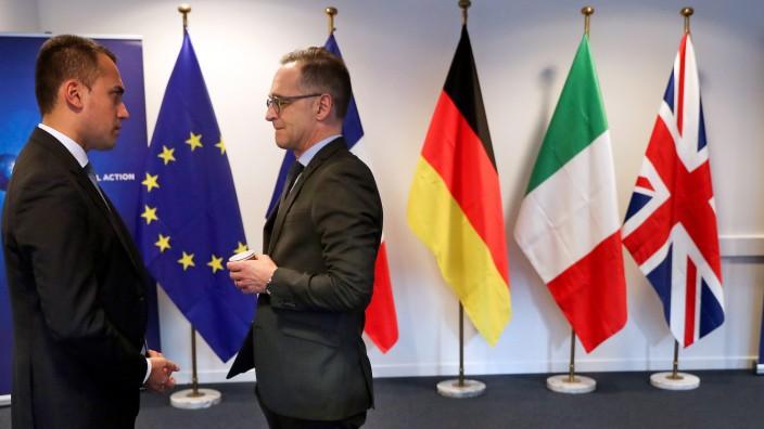 Krisentreffen von EU-Außenministern in Brüssel