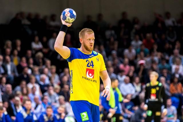 28 10 2018 Raiffeisen Sportpark Graz AUT EHF Euro Cup Oesterreich vs Schweden im Bild Jim Got; Jim Gottfridson