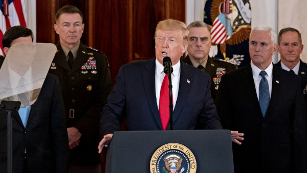 President Trump Delivers Statement On Iranian Missile Attacks On U.S.-Iraqi Bases