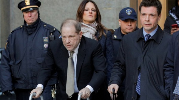 Film producer Harvey Weinstein exits at New York Criminal Court for his sexual assault trial in New York
