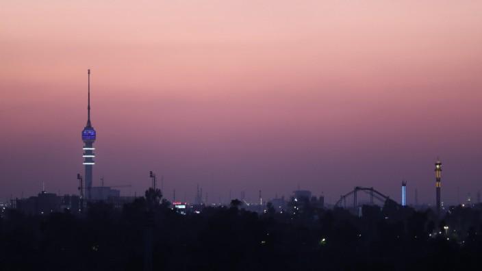Sonnenuntergang über Bagdad