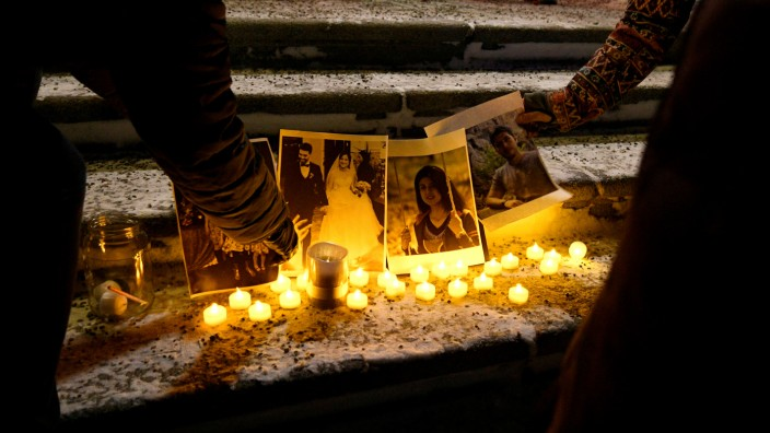 Vigil at the Edmonton Legislature building in memory of the victims of a Ukrainian passenger plane that crashed in Iran