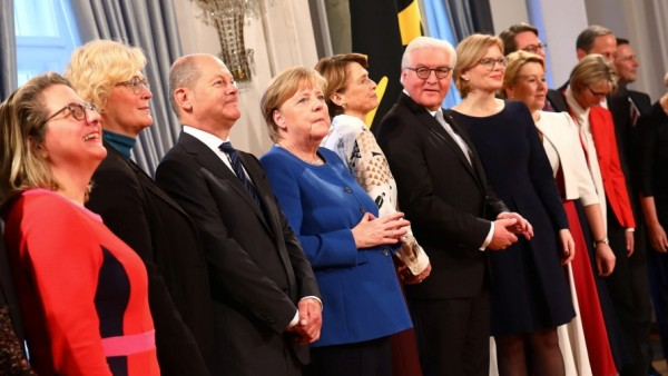 New Year's reception at the presidential Bellevue Palace in Berlin
