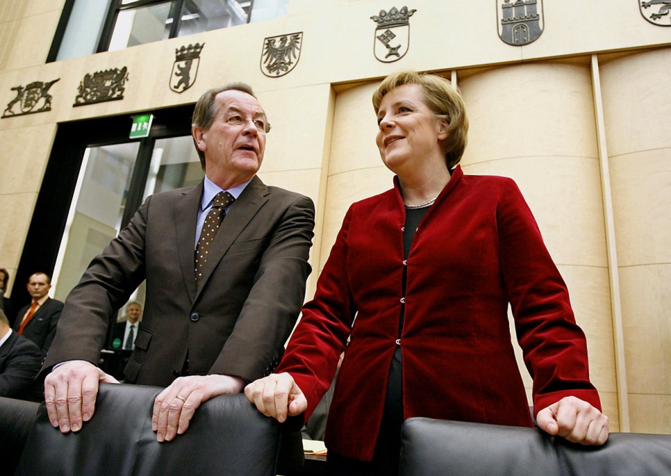 Merkel erstmals im Bundesrat - Merkel, Müntefering