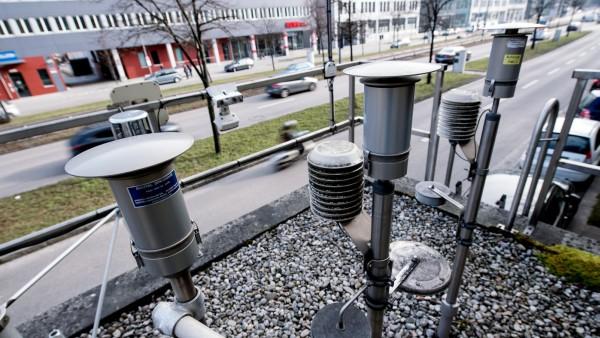 Luftmessstation an der Landshuter Allee München