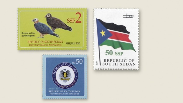 Die Seite Drei: Südsudan: Nach der Unabhängigkeit des Südsudan wurden nicht nur eigene Briefmarken gedruckt, sondern auch Fahnen entworfen und eine Nationalhymne komponiert.