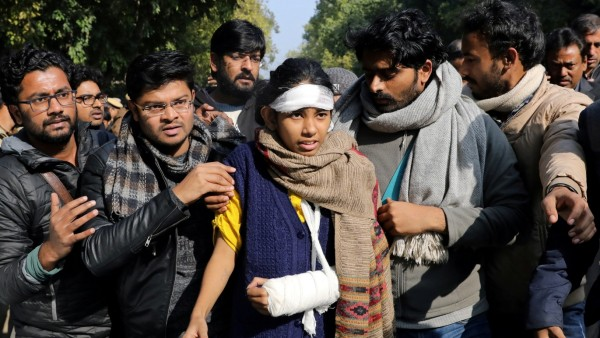 Protest against attacks on students of Jawaharlal Nehru University, in New Delhi