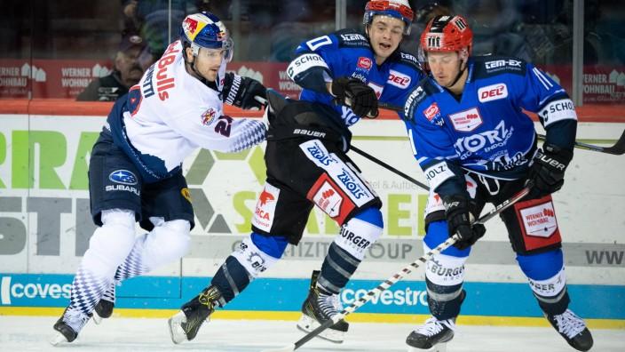 Ice hockey, Eishockey - DEL, Schwenningen vs RB Muenchen SCHWENNINGEN,GERMANY,12.JAN.20 - ICE HOCKEY - DEL, Deutsche Ei; Eishockey