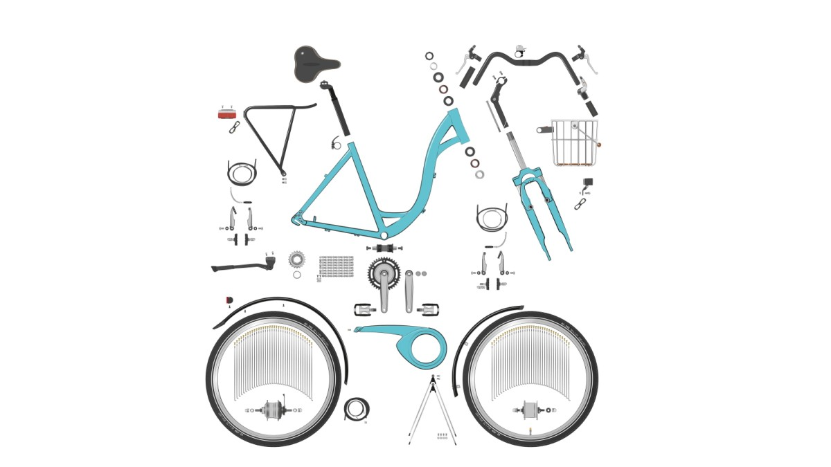 Die Rädchen am Fahrrad