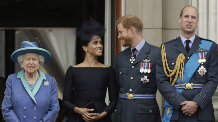 Royals: Queen Elisabeth, Herzogin Meghan, Prinz Harry, Prinz William und Herzogin Kate 2018 in London