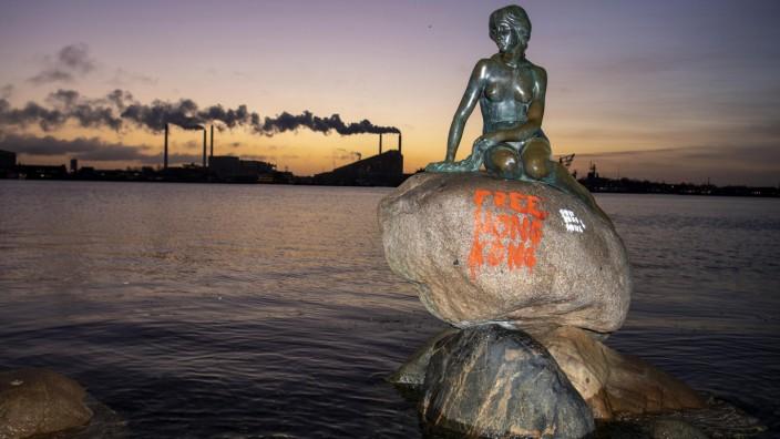 Meerjungfrau-Denkmal in Dänemark beschmiert