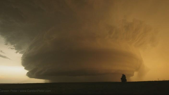 Tornadogewarnte Superzelle in Texas