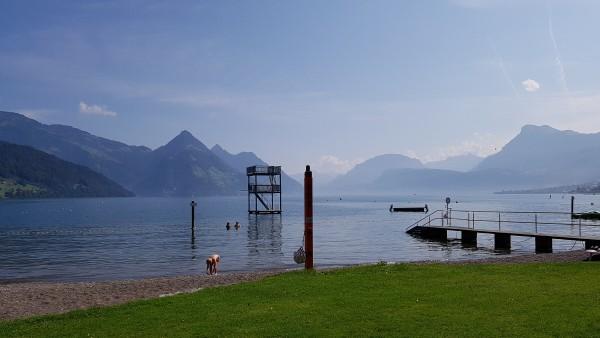 Mit dem Campingbus in die Schweiz, Vierwaldstättersee