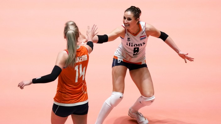Myrthe Schoot during Tokyo European Qualification Azerbeidzjan-Netherlands on January , 7 2020 in Apeldoorn, Netherlands; Volleyball - Frauen - Myrthe Schoot