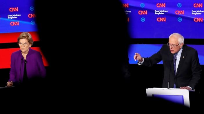 US-Wahl: TV-Debatte zwischen Elizabeth Warren und Bernie Sanders