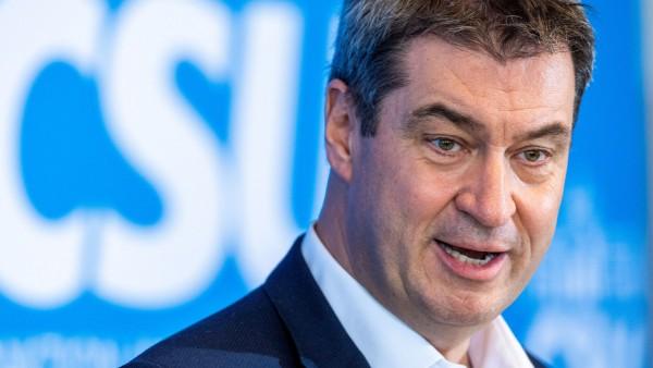 Markus Söder bei Klausurtagung der CSU-Landtagsfraktion in Seeon