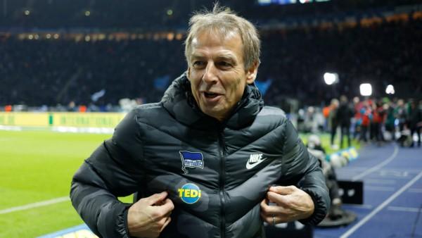 Hertha BSC: Trainer Jürgen Klinsmann im Berliner Olympiastadion