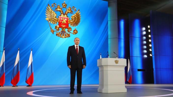 Russland: Wladimir Putin bei seiner Rede zur Lage der Nation