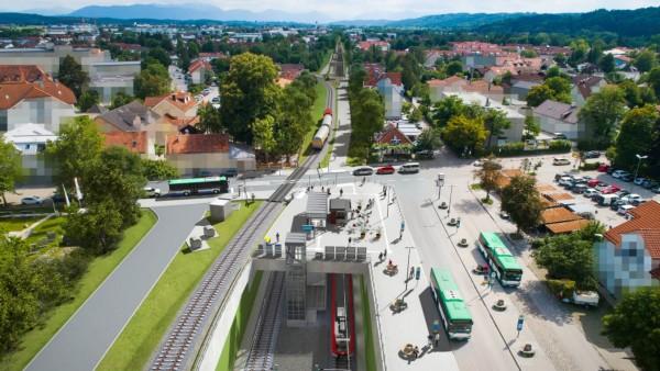 Simulation der neuen S-Bahntrasse der S7