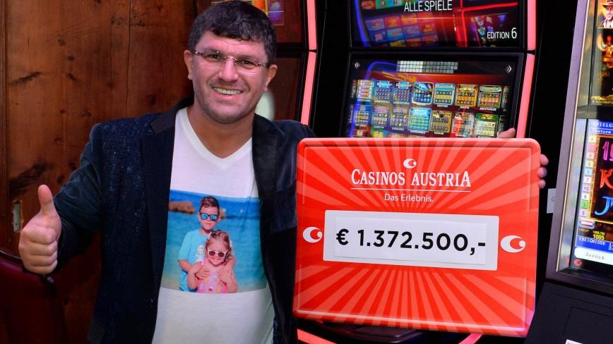 Glücksspiel: Millionär gewinnt 1,37 Millionen