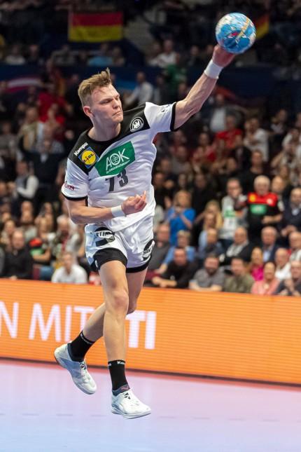 Handball, Maenner: EM 2020, Hauptrunde, Gruppe 1, Weißrussland - Deutschland Timo Kastening (Deutschland / TSV Hannover