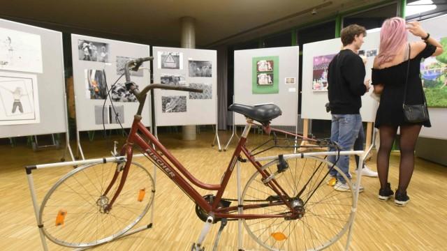 Wie aus Renaissance-Kunst Pop Art wird: Das Fahrrad entstand im regulären Kunstunterricht.