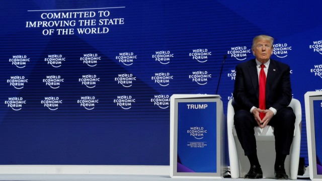 FILE PHOTO: U.S. President Trump attends the World Economic Forum annual meeting in Davos