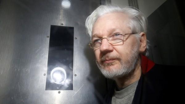 WikiLeaks' founder Julian Assange leaves Westminster Magistrates Court in London