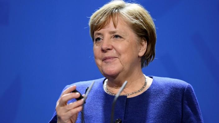 German Chancellor Merkel meets head of the EU Presidency Plenkovic in Berlin