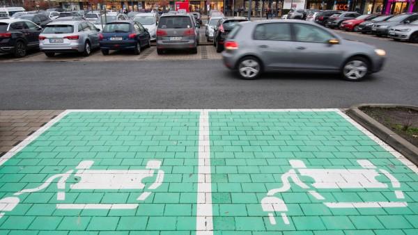 Elektroautos Parkplatz