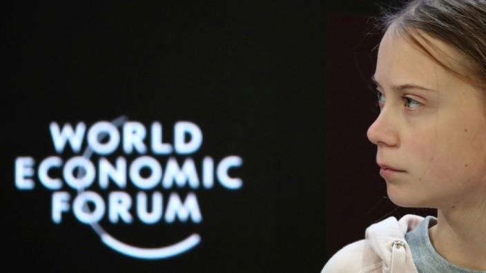 WEF 2020: Greta Thunberg auf dem Weltwirtschaftsforum in Davos
