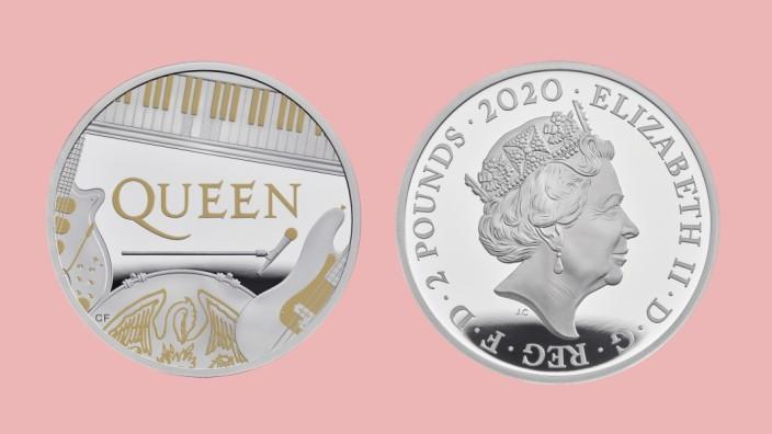 Rockband Queen auf Fünf-Pfund-Münze verewigt