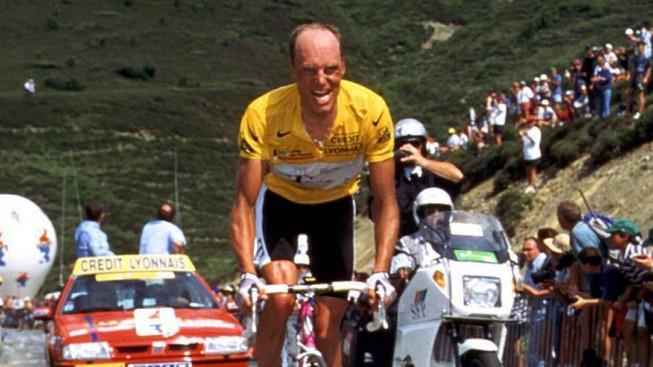 Gesamtführender Bjarne Riis DEN Telekom auf der 16 Etappe; Bjarne Riis Tour de France