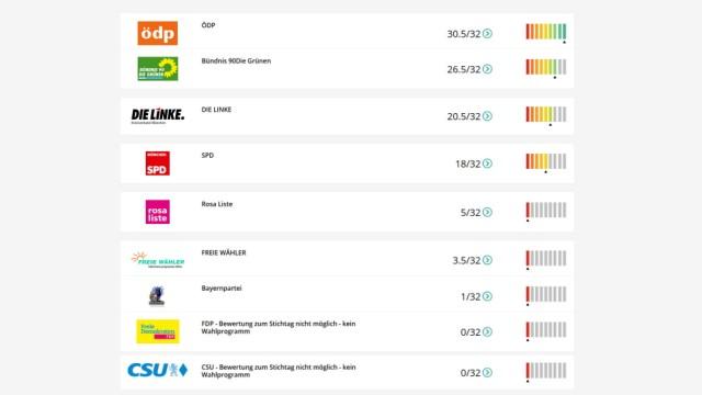 """Kommunalwahl: Die Webseite www.klimawahl2020.de prüft kontinuierlich, wie viele """"Fridays for Future""""-Forderungen die Parteien erfüllen oder zumindest aufgreifen."""