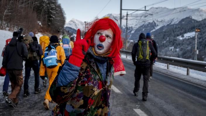 Davos Proteste Fridays for Future