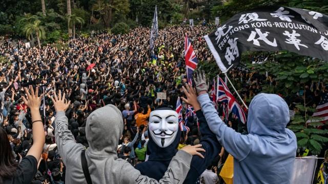 *** BESTPIX *** Pro-Democracy Demonstrators Rally Ahead Of The Lunar New Year In Hong Kong