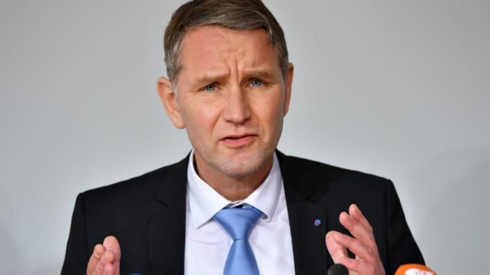 Landespressekonferenz Thüringen  - Björn Höcke