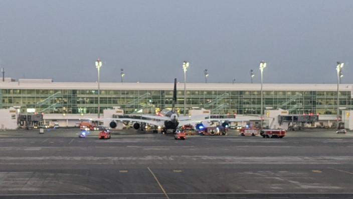 Lufthansa-Airbus landet nach Feueralarm an Bord in München