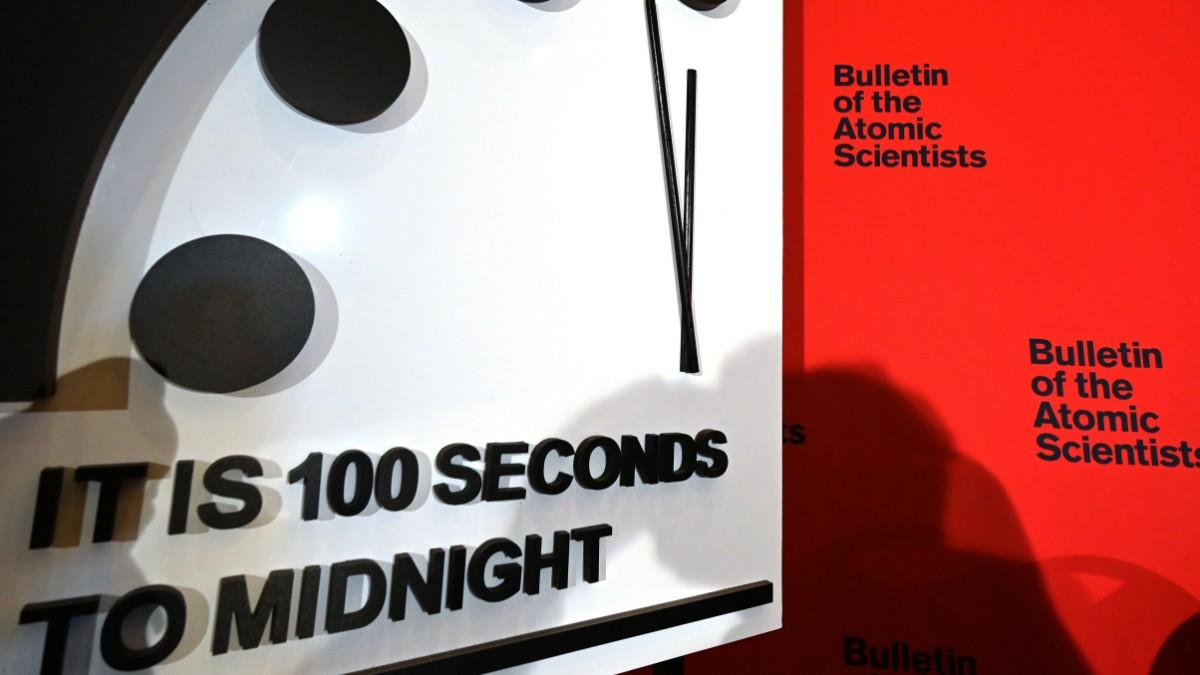 Weltuntergangsuhr steht auf 100 Sekunden vor zwölf