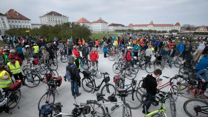Radsternfahrt für besseren Fahrradverkehr in München, 2019
