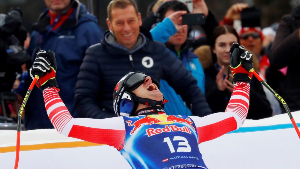 Streif: Matthias Mayer ist nun eine Skilegende