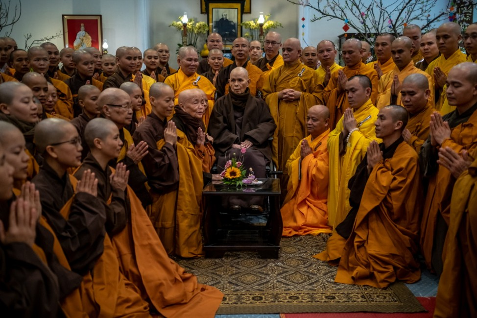 Zen Master Thich Nhat Hanh Returns To His Root Temple in Hue