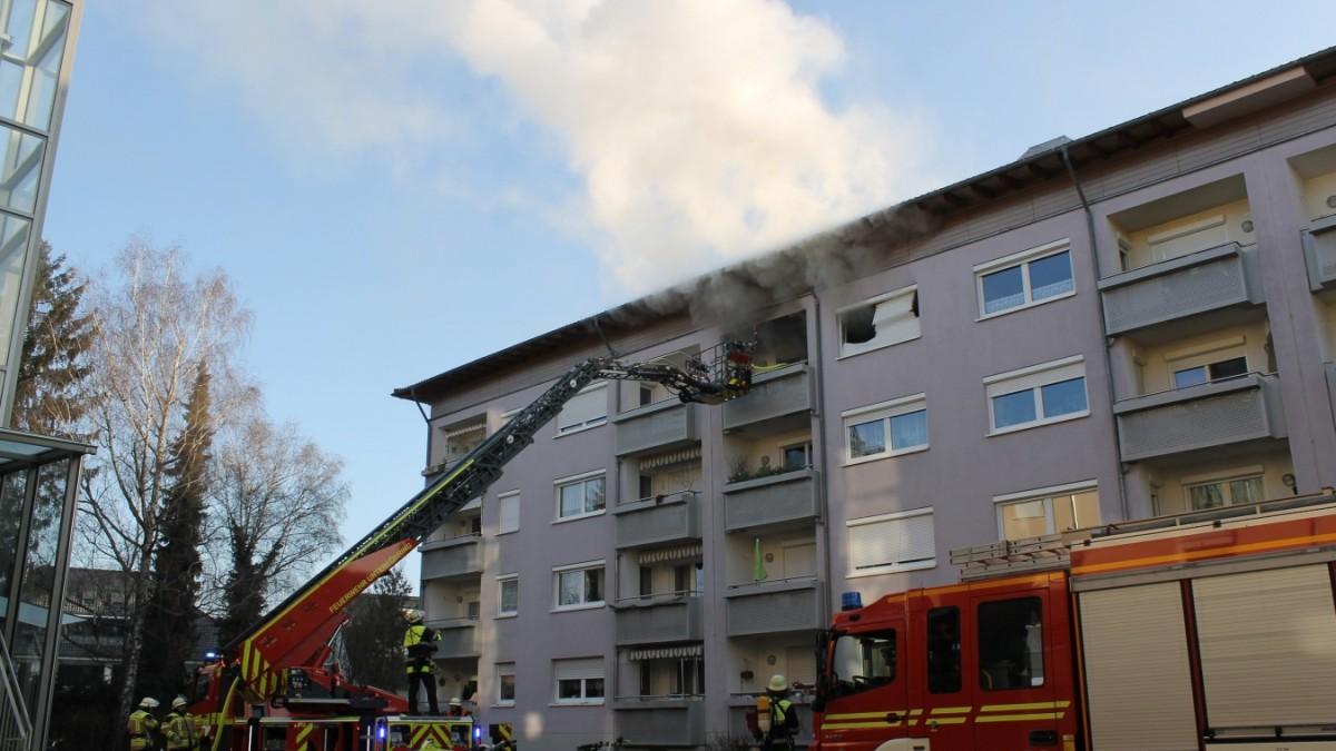 Unterföhring - Wohnung ausgebrannt