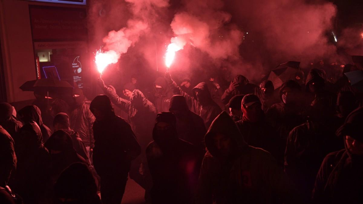 Demonstration in Leipzig eskaliert