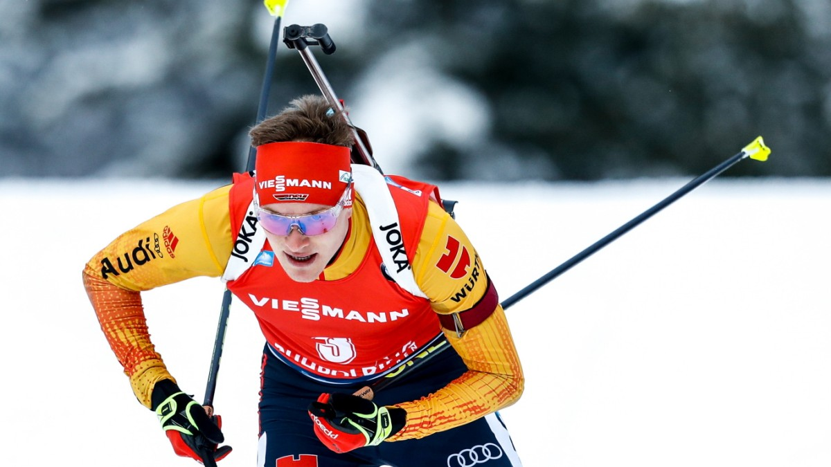 Biathlon: Benedikt Doll im Massenstart auf Rang zwei