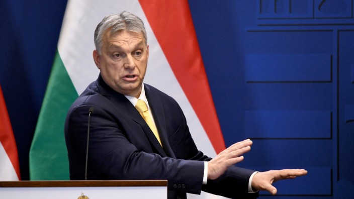 FILE PHOTO: Hungarian Prime Minister Viktor Orban holds an international news conference in Budapest