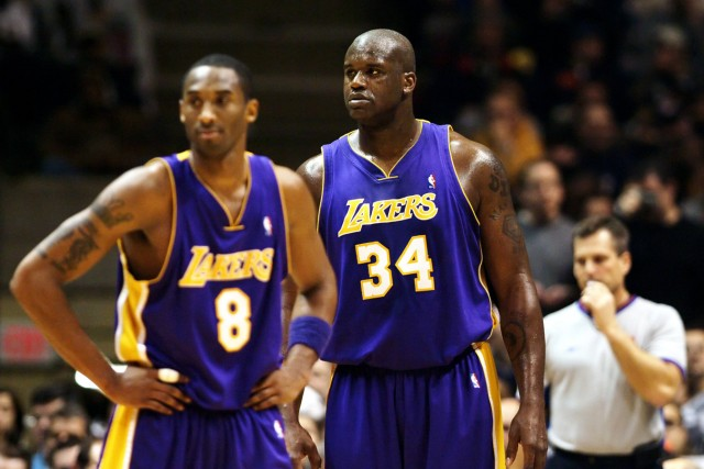 Shaquille O Neal (re.) und Kobe Bryant (beide Los Angeles Lakers)