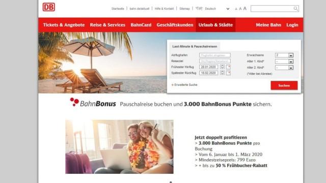 Screenshot bahn.de