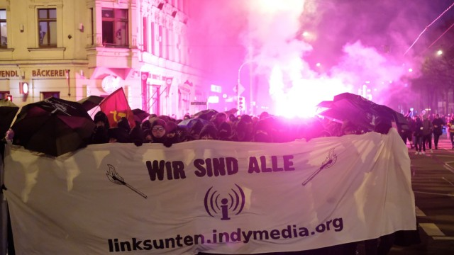 Demonstration gegen Indymedia-Verbot